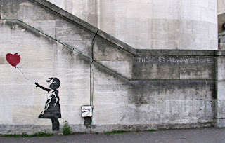 Banksy, graffiti outdoors