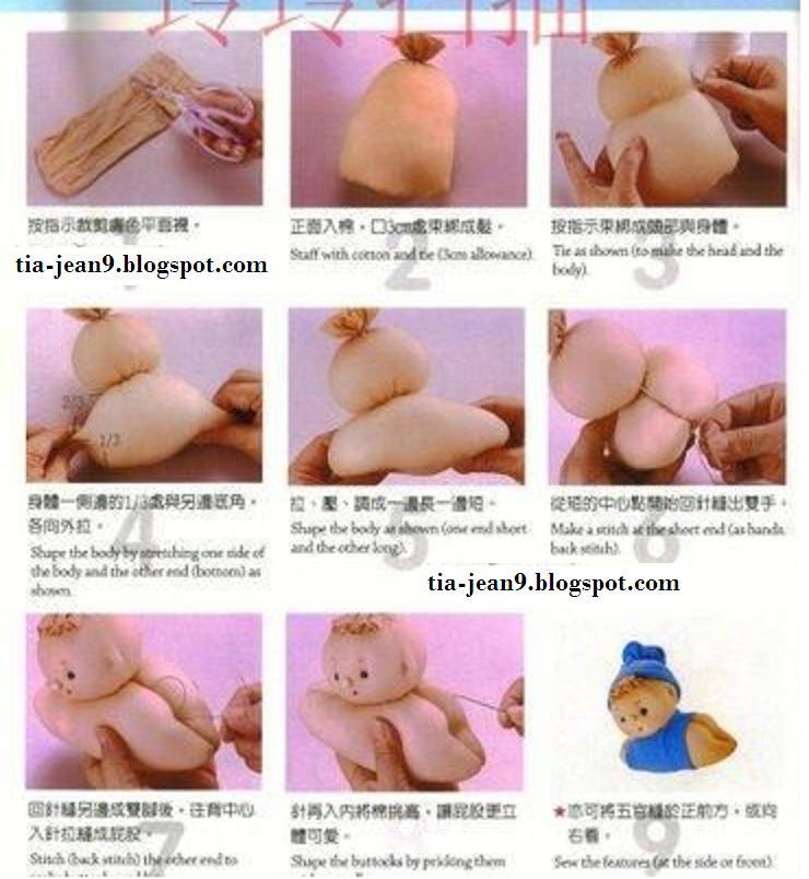 Как делать руки кукле из колготок своими руками