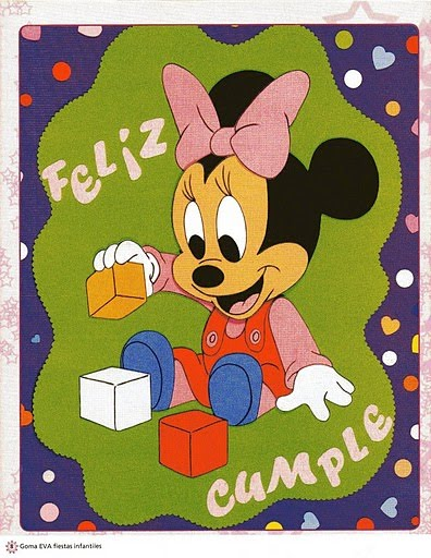 BABY MINNIE MOUSE AFICHE