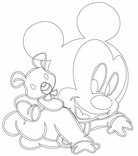Moldes De Mickey Y Minni Para Imprimir Recortar | apexwallpapers.com