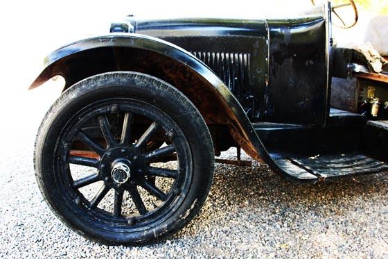 A very old, antique car near Paonia, Colorado.