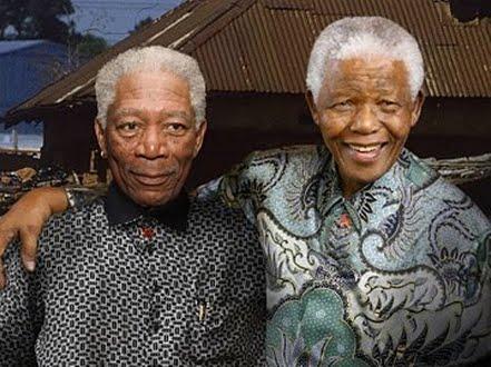 Morgan Freeman y Nelson Mandela Nelson Mandela Morgan Freeman Comparison