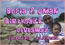 """Sofia & Emak Birthday's Giveaway"""