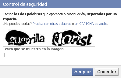 Captcha Facebook Guerrilla