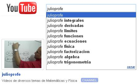 Entrevista a JulioRios, JulioProfe en Youtube: Ejercicios de Matemáticas y Física