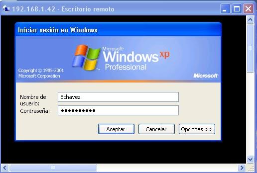 Como configurar en escritorio remoto windows xp un choca - Activar escritorio remoto windows xp ...