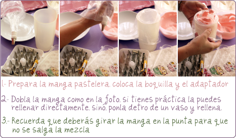 Como rellenar una manga pastelera - VelocidadCuchara.com