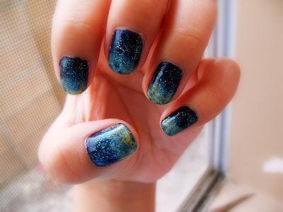 space nails art Designs