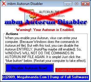 http://4.bp.blogspot.com/_PIQ4JS16z9Q/SrfavbNpzLI/AAAAAAAAGRM/OyHeadaw93g/s400/mbm-Autorun-Disabler_1.png