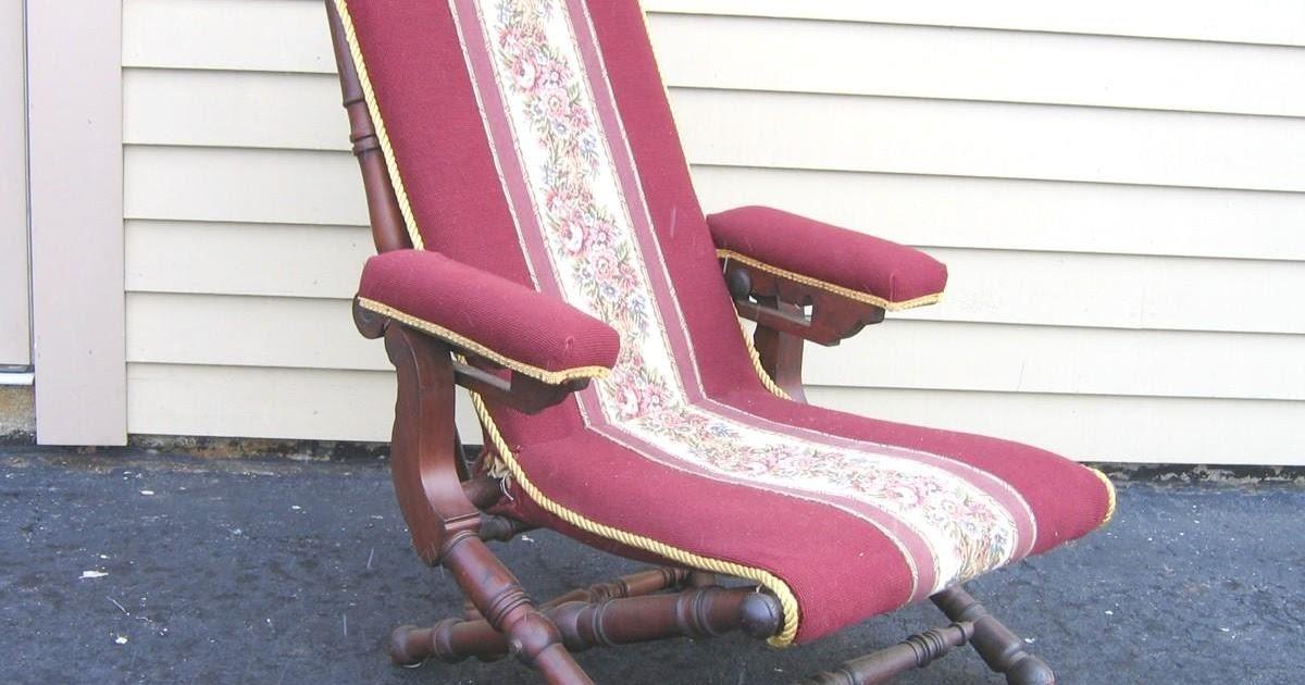 George Hunzinger Furniture Reclining Chair 1866 Patent