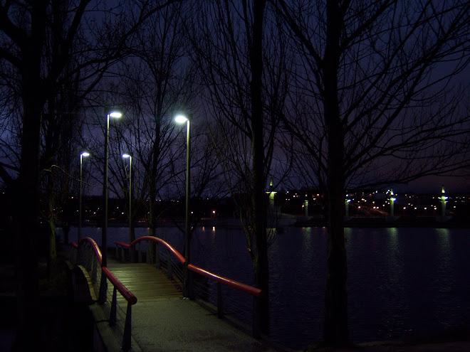 El lago al anochecer.