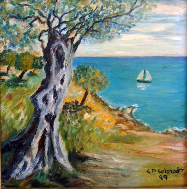 IBIZA SEA. OIL PAINTING.
