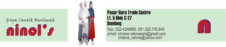 ninols, busana muslim kaos, gamis kaos, blus kaos celana kaos, jilbab, Pasar Baru Bandung