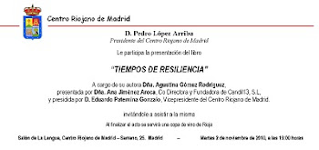 INVITACIÓN del CENTRO RIOJANO DE MADRID