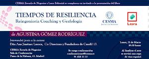 """PRESENTACIÓN LIBRO """"TIEMPOS DE RESILIENCIA, REINGENIERÍA, COACHING Y GRAFOLOGÍA"""""""