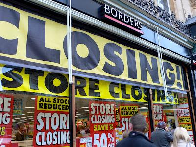 Borders Books Store Closing Sale The Borders Book Store