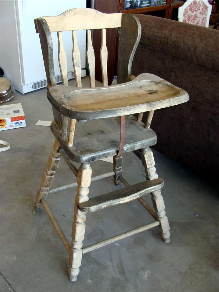 Vintage wooden high chair - Vintage High Chair Favorite Yard Sale Find