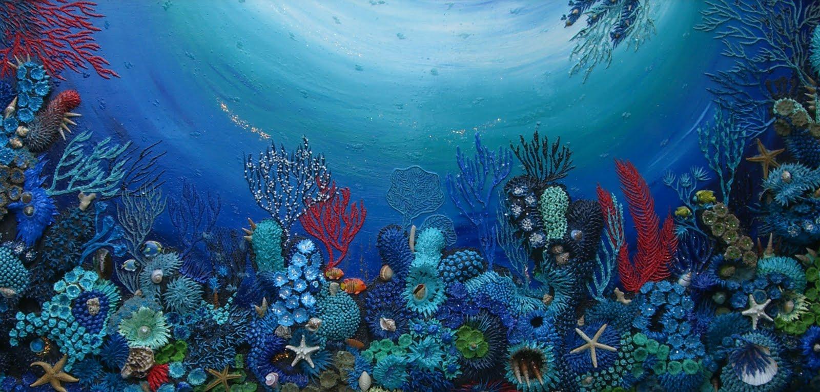 Elisabetta trombello pittrice paint acquario ambientato for Fondo acquario