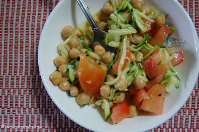 Salade de pois chiche simple