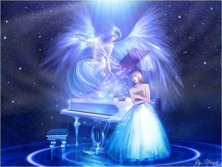 Ángel de música