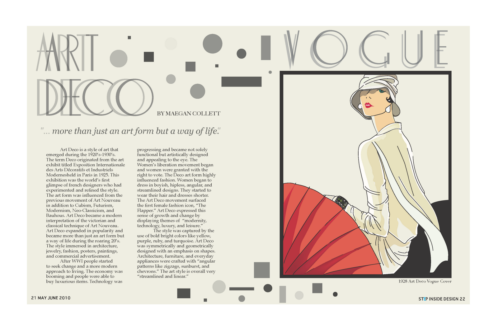 Feather Of Lead Designs Recreated Art Deco Image Magazine