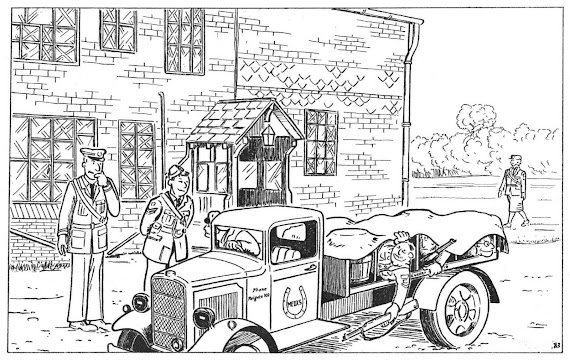 Cartoon of the Redhill Aerodrome raid