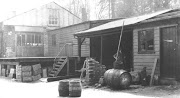 View of the Cooper's shop at bottom of yard, c1934