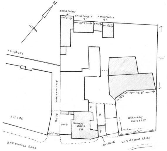 Plan of Redhill Brewery, 1914