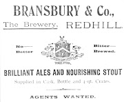 Advertisment for Bransbury & Co, Redhill c1906