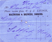 Invoice, W & J Lucock, Dorking 1872