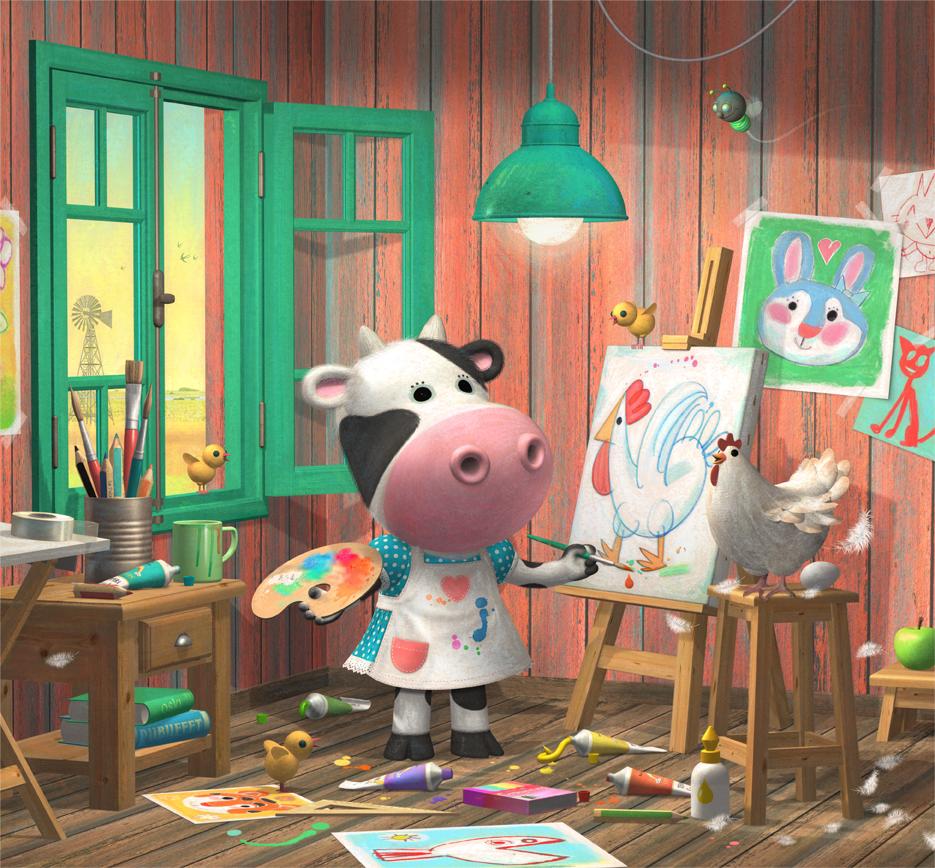 La pecera vaca pintora for Jardin de genios revista 2016