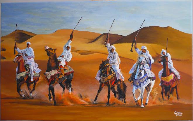 """Acrílico """"La Fiesta del Sahara"""""""