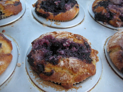 A Bountiful Kitchen: The World's Best Fresh Blueberry Muffins
