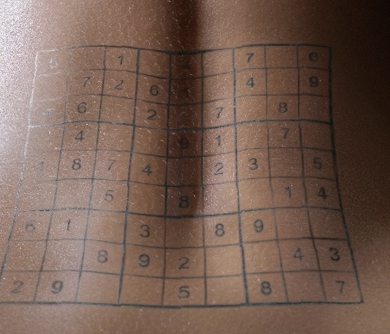 If these were not enough, you could of course take a sudoku tattoo!