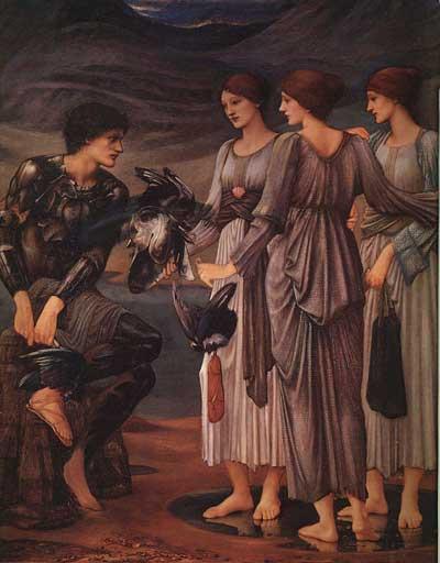 Las ninfas arman a Perseo