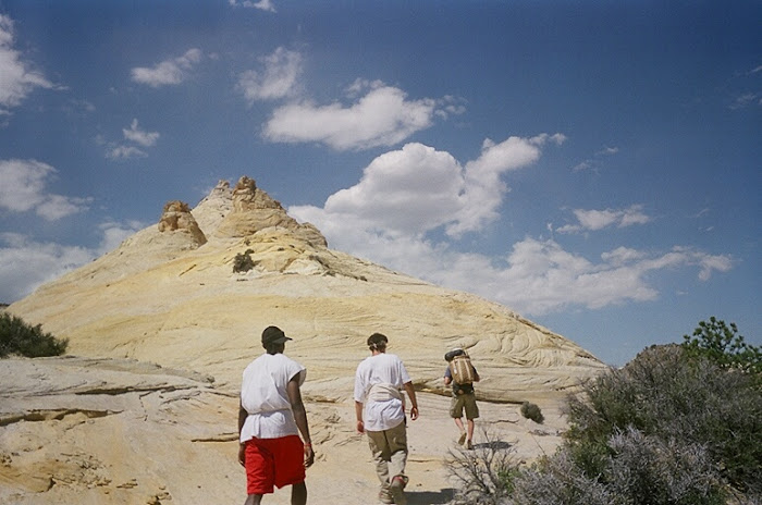 Students explore the Utah desert