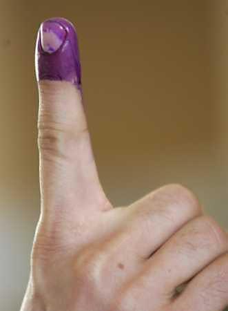 Purple finger