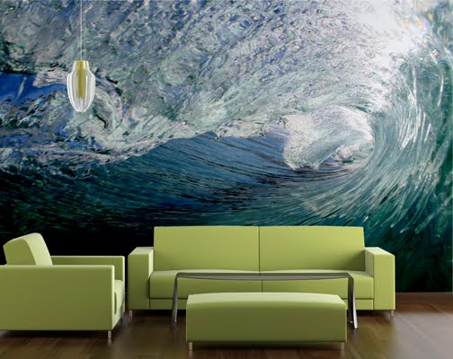 Custom wallpaper inspiration custom surfing inspired wall for Custom wall mural