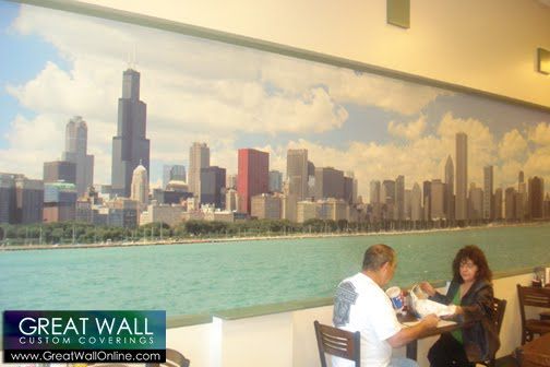 Custom wallpaper inspiration july 2010 for Chicago skyline mural wallpaper