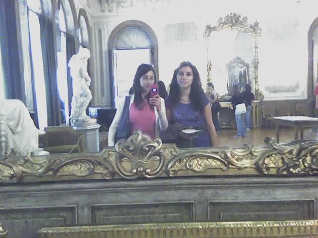 con la romy en el museo