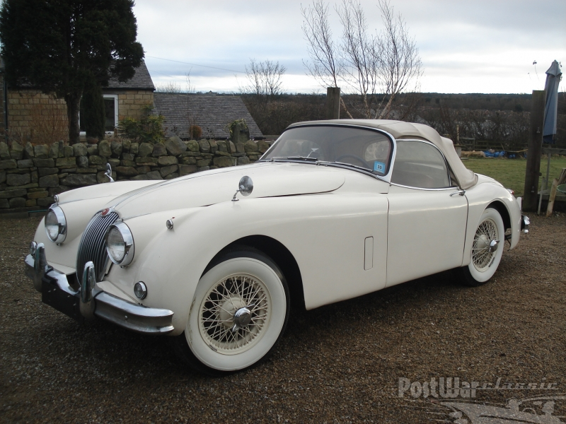 old vintage cars  Jaguar XK 150 roadster 1958 for sale