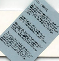 Paper with writing on it