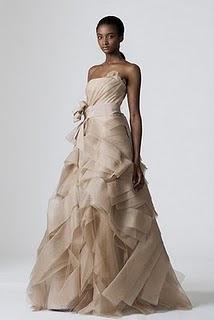 vestido vera wang Vestida por Vera Wang!