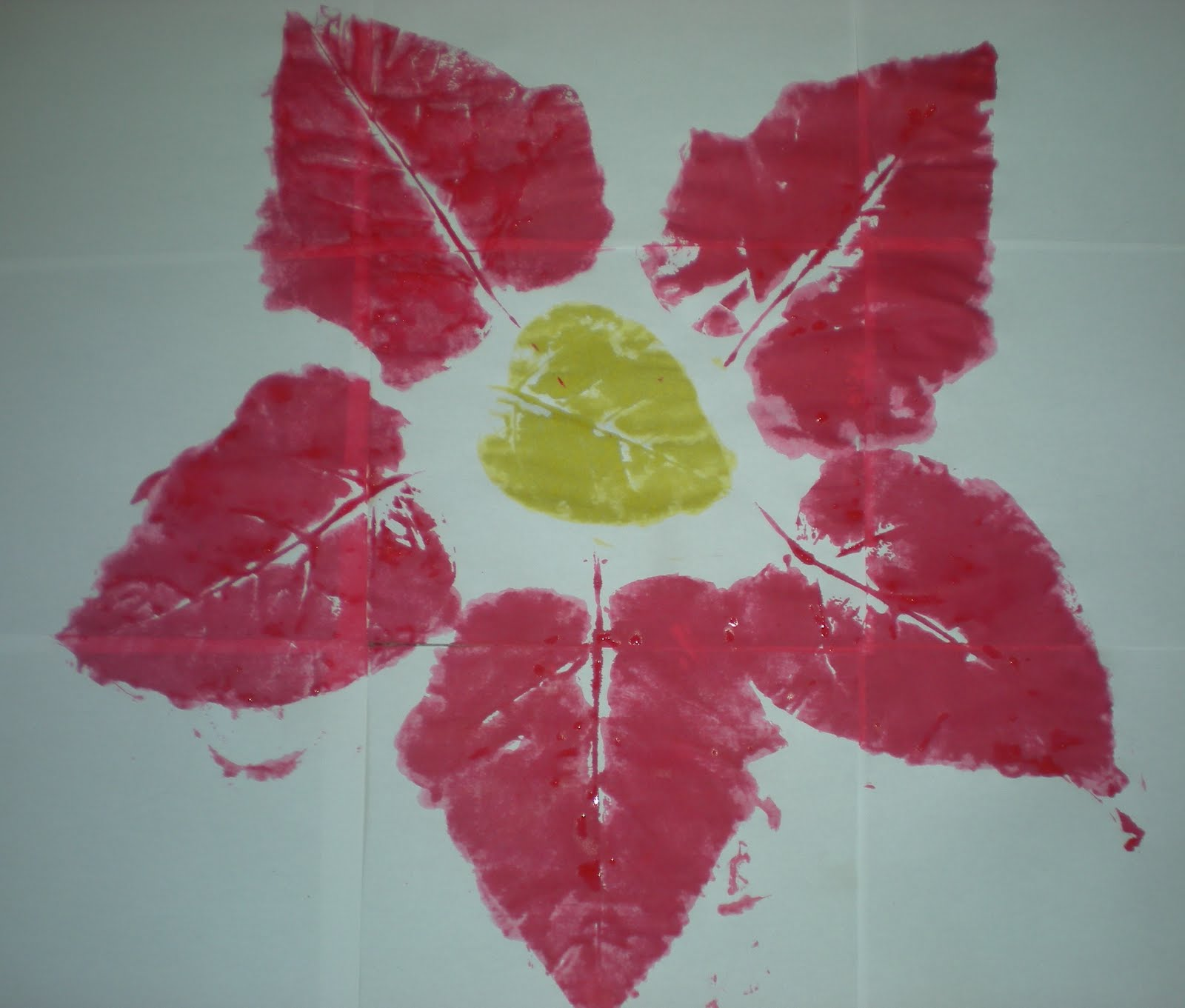 leaf print project - Printing Activities For Preschoolers
