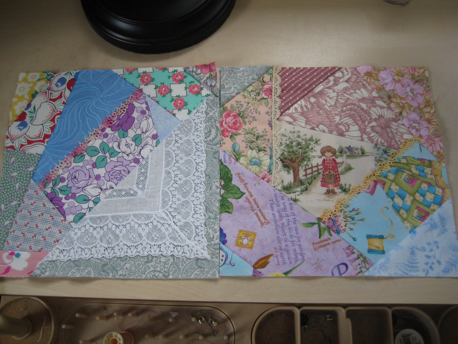 Sheila S Quilt World Crazy Quilting Friday