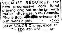 Old Advert for singer