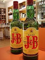 j&b rare bottle