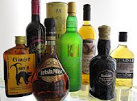 a selection of whisky liqueurs