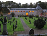 glenrothes distillery seen from rothes graveyard