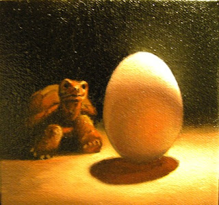 Daily Oil Painting, Still Life, Turtle